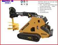 Mattson China ML526 mini skid steer loader 26 hp Perkins diedel engine with auger attachment