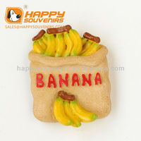 2016 Different Design Banana 3D High Quality Fridge Magnet