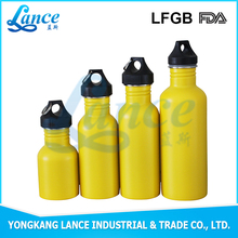 High quality 500ml stainless steel single wall width mouth sports water bottle