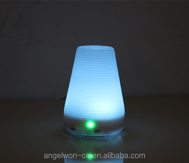 100ml corrugated ultrasonic aroma essential oil diffuser mini humidifier LED oil lamp