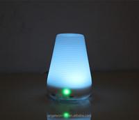 100ml corrugated ultrasonic aroma essential oil diffuser mini humidifier LED oil lamp