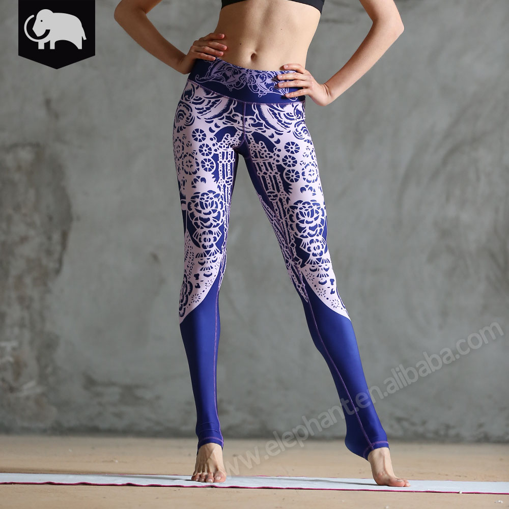 Women yoga sport sublimation yoga pants sex womens printed leggings