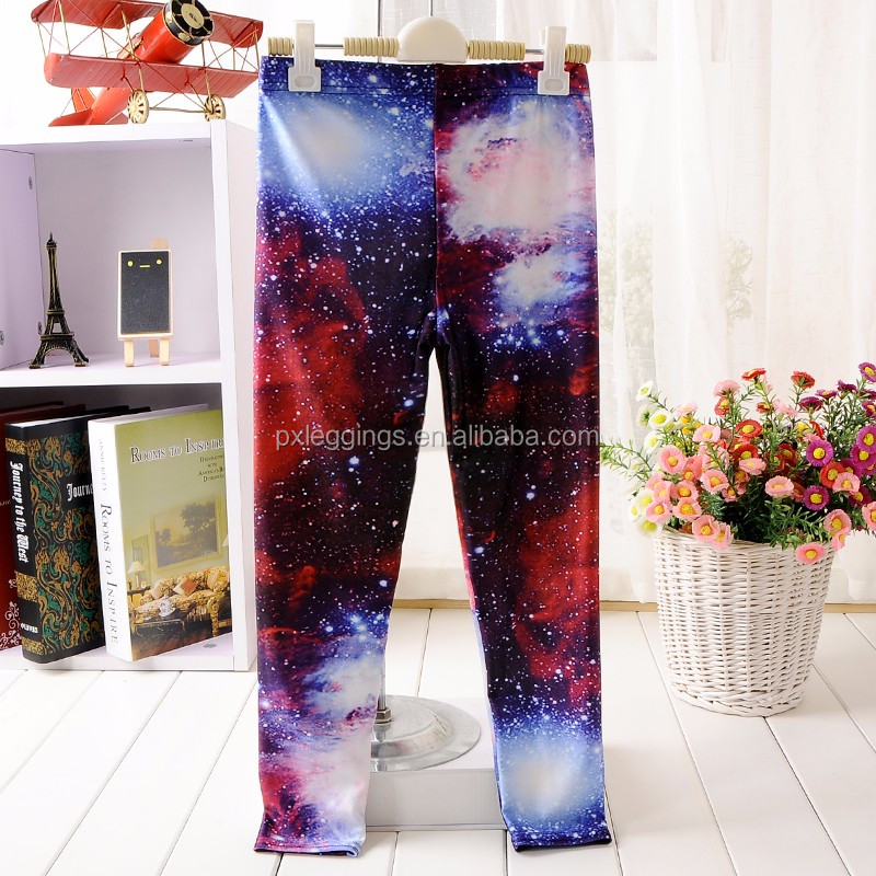 custom fitness leggings, 3d galaxy xl printed kids pants