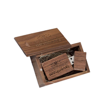 Promotional Custom Logo Wooden Flash Memory USB 3.0 Flash Drive