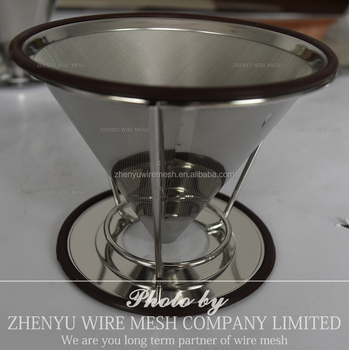 Zhenyu Stainless Steel Washable Reusable Pour Over Coffee Filter