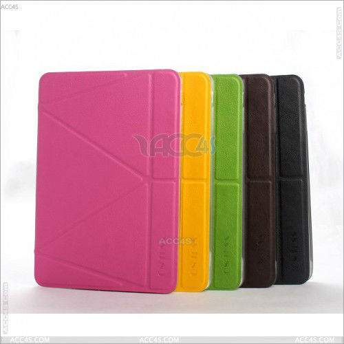 Alibaba france china multi-folded standing PU Leather covers with retina for iPad Mini 2 case