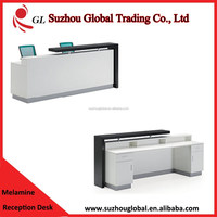 fashion modern style melamine reception counter front office desk