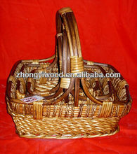 cheap wholesale wicker basket with handle