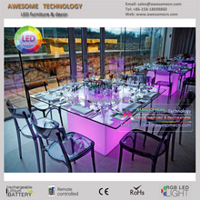 led light wedding and event table decorative ideas