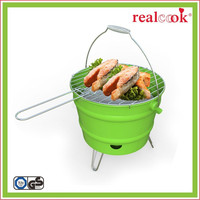 Portable korean perfect flame charcoal BBQ grill as seen on TV
