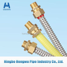 Stainless steel flexible PVC coated gas pipe