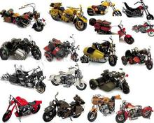 Iron Motorcycle Models with Hand Painted