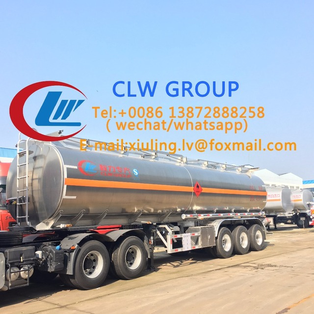 Kinds of liquefied gas trailer, geographical cans with discount price on sale