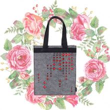 Hand painted shopping bag for women