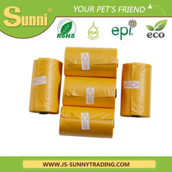Sunny pet products bio yellow waste bag for sale good material