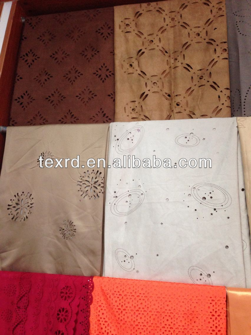 Punching Suede Car Seat Cover Fabric