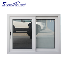 Superhosue Australia standard AS2047 frosted glass aluminum framed double glazed sliding window