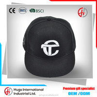 OEM Customized Top Design Cool Fashion Good Quailty Embroidered Unisex Adjustable Fitted Hip-Hop Bboy Flat Brim Snapback Cap