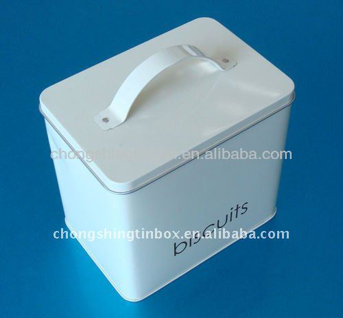 Tin box with metal handle wholesale