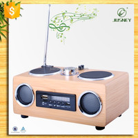 2017 FM radio speaker with usb port ,fm radio sd card reader & Bamboo speaker