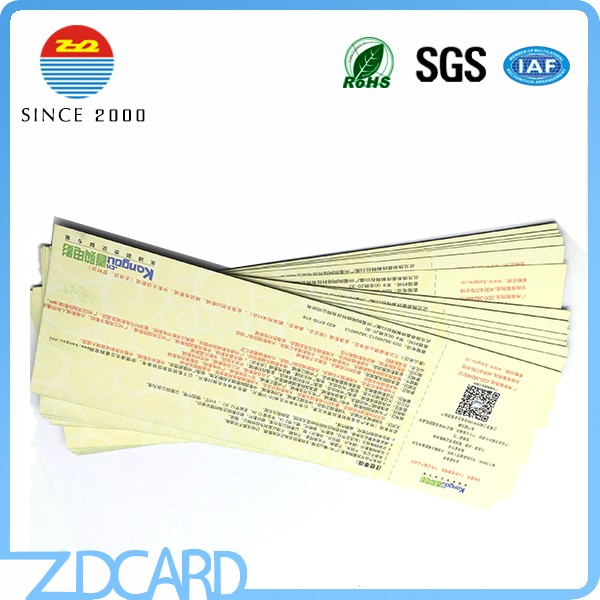 printing 13.56khz paper rfid event ticket