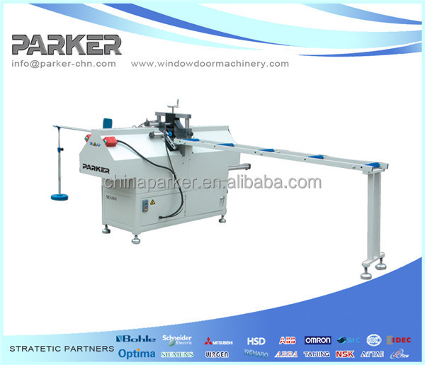 High quality best price PVC UPVC Plastic Profles window door glazing bead cutting saw cutting machine