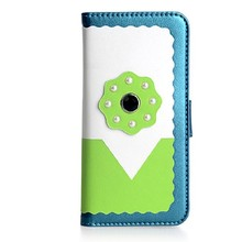colorful leather rivet phone case for iphone