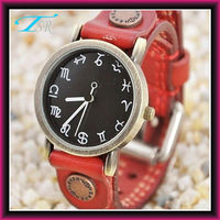 2013 leather wrap new ladies vogue watches for women with constellation number leather band special style hot in US