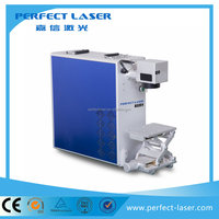 China hot sale memory card making machine 10w/20w fiber laser marking machine for stainless steel
