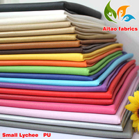 Small Lychee PU leather, Faux Leather Fabric, Sewing PU artificial leather. Upholstery leather