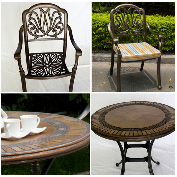 Cast Aluminum Tables And Chairs Metal Patio Furniture