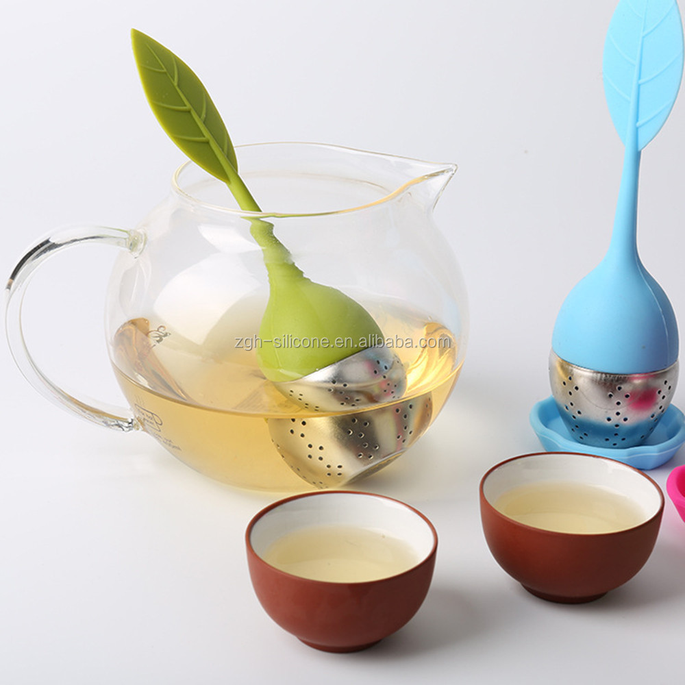 Wholesales Food Grade Silicone Tea Strainer Stainless Steel