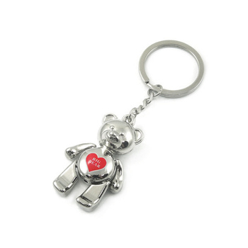 Custom metal mini bear koala keychain