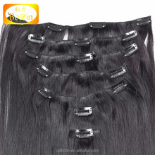 hot sell natural color straight 100 grams 7 pieces clip in hair extension