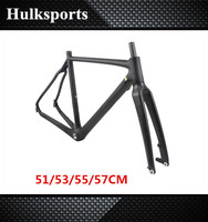 Disc-brake road bike carbon frame 1080g Carbon Fiber T700+T800 cyclocross frameset 700c
