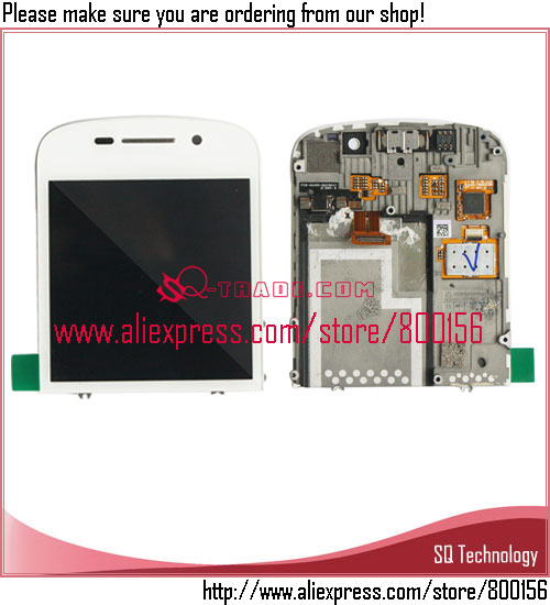<strong>Mobile</strong> <strong>Phone</strong> Spare Parts for BlackBerry <strong>Q10</strong> LCD with Touch Screen Assembly White color Free Shipping