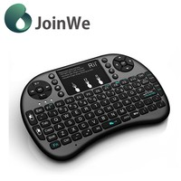 Fashion design Mini Bluetooth i8 touchpad bluetooth keyboard /support battery for android tv box I8