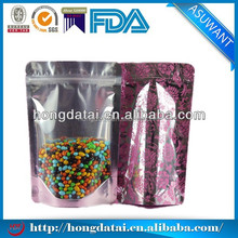 one side clear aluminum foil bags for beads