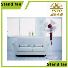 18 inch plastic body ABS Blade cheap stand floor electric fan with timer function
