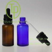 Top Quality 10ml Cobalt Blue aromatherapy bottles White Child Resistant Bulb Glass Droppers 100% no Leakage