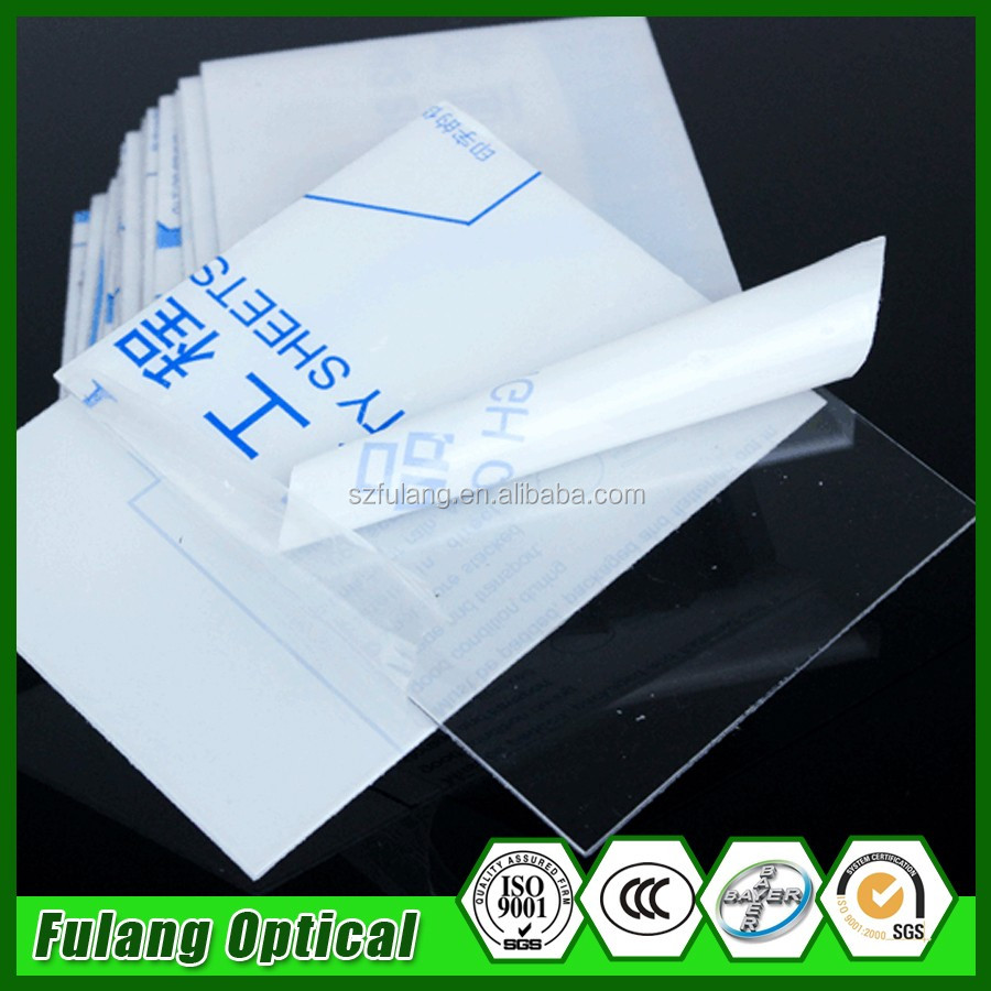 Clear And Color Polycarbonate 0.175Mm Plastic Polycarbonate Film Sheet