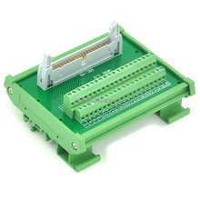 IDC50 DIN Rail Mounted Interface Module, Breakout Board, Terminal Block IDC50 spliter