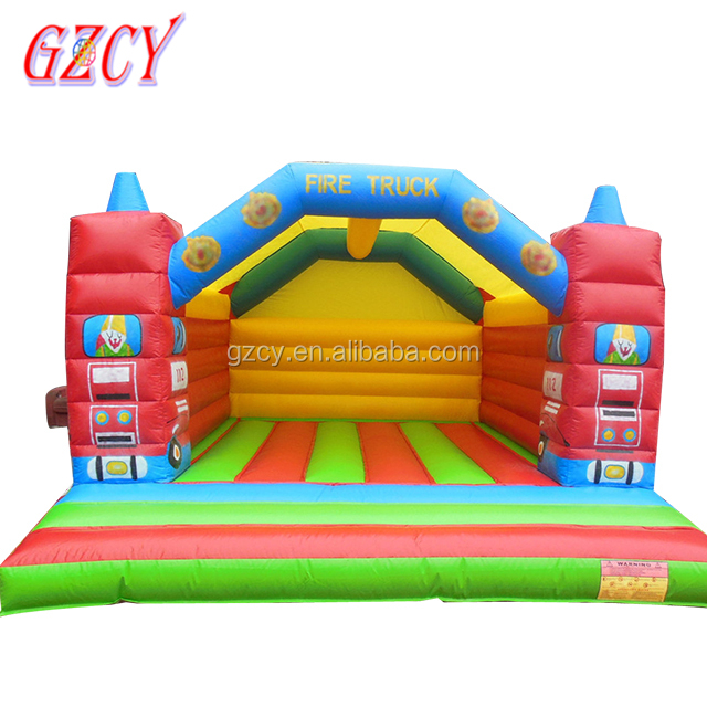 Giant fire truck jumping bouncy inflatable water bouncer for sale