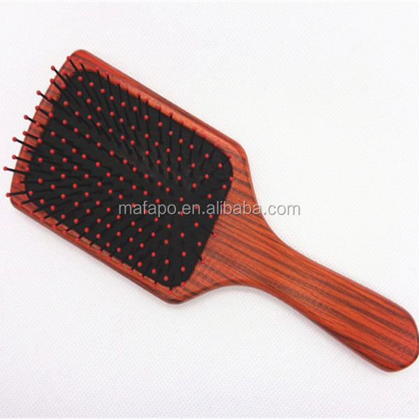 2014 professional Wholesale good looking wooden hair brush pictures
