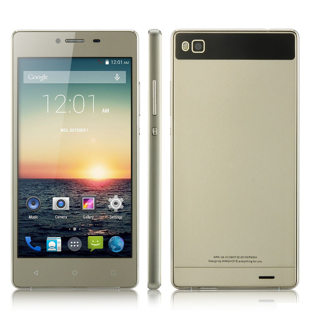 Chinese OEM P8 Smartphone 5.0 Inch QHD MTK6572W Android 4.4 Smart Wake Gold