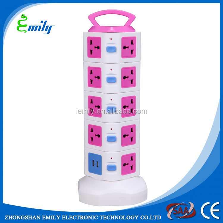 Good Quality 50HZ frequency 5 ways power strip