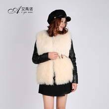 New Down Coat Women Winter Clothes Sheep Fur And Fox Fur Overcoat For Ladies With Long Sheepskin Sleeve Fining Cotton