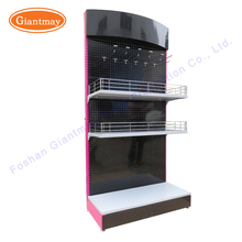 Chinese supplier Foshan plant customized retail shop accessories floor standing metal display rack