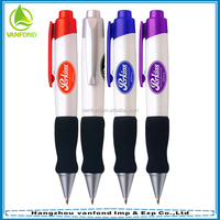 New design best selling cheap fat novelty ballpoint pen with customized corporate logo