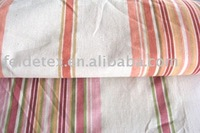 linen fabric curtain with line design printing